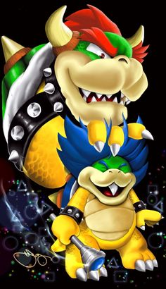 Chip Off The Old Block:  Bowser & Ludwig Von Koopa by Fernando Lyons