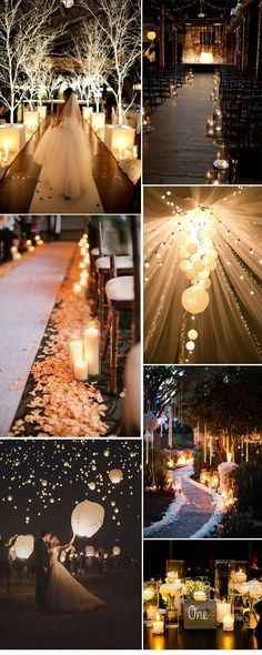 romantic themed wedding decorations #wedding #wedidngideas #rustic #country #candles