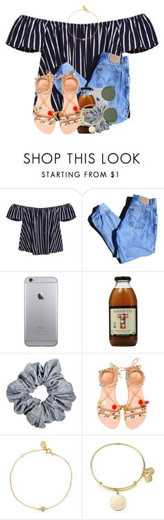"""""""did you ever let go, did you ever not know?"""" by madiweeksss ❤ liked on Polyvore featuring Levi's, Elina Linardaki, Estella Bartlett, Alex and Ani and Ray-Ban"""