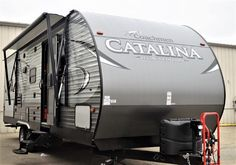 Travel Trailer Catalina Legacy Ed RV Camper New and Used Wheel Sales Camper Trailer For Sale, Campers For Sale, Rvs For Sale, Rv Campers, Toy Hauler Camper, Camper Caravan, Camper Trailers, Coachmen Rv, Rv Dealers