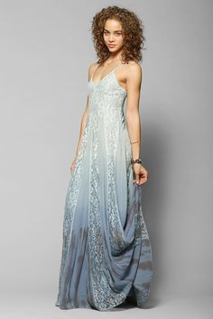 Pretty dress for beach engagements // Kimchi Blue Beyond The Sea Lace-Inset Maxi Dress via Urban Outfitters $149