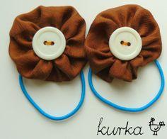 gumki handmade by kurka - turkus brąz