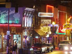 """Nashville's famous """"honky tonk strip""""- no cover, open windows with live music 365/24/7"""