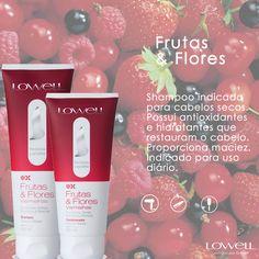 A Lowell desenvolveu uma linha completa com Frutas & Flores vermelhas, com shampoo, condicionador e leave-in, os quais possuem:  • Extrato de Cereja: com efeito hidratante,suavizante e amaciante • Extrato de Framboesa: Antioxidante, remineralizante e hidratante • Extrato de Passiflora: Adstringente e suavizante • Extrato de Prímula : Nutritivo,amaciante e emoliente  Veja mais no blog: www.lowell.com.br/blog