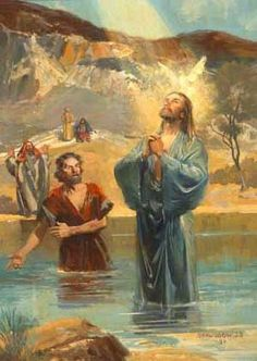 Image detail for -river with john the baptist clip art jesus christ requests baptism ...