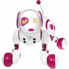 PINK ZOOMER ROBOT INTERACTIVE DOG DOGS PUPPY KID ELECTRONIC ROBO PET BARKS TALKS