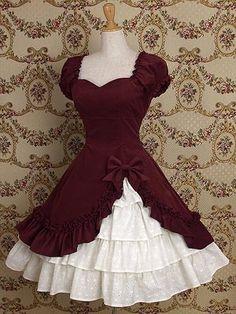 Vermeil Cotton Classic Lolita Dress   Cheap classic lolita dresses Sale