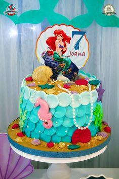 Little Mermaid Birthday Cake, Little Mermaid Cakes, Ballet Cakes, Christmas Cake Designs, Ariel Cake, Ariel Disney, Mermaid Parties, Disney Cakes, Diy Cake