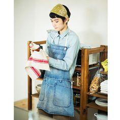 헌옷 가게에서 찾아낸 같은 뚜껑 거리의 스타일에서 사용할 수있는 데님 앞치마 회 (3 회 한정 컬렉션) | 훼리 시모