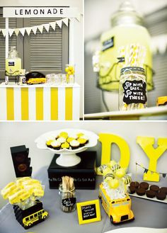 Bright & Playful Yellow School Bus Birthday Party // Hostess with the Mostess®