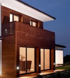 modern wee house design exterior wall wood cladding material ...