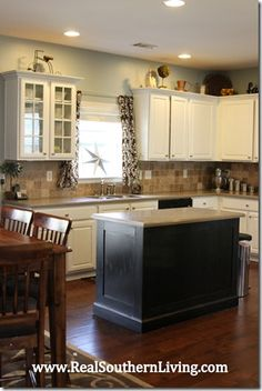 How to paint cabinets without sanding or stripping.