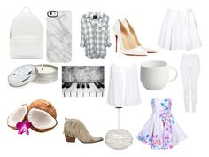 """""""White"""" by ellbellwake ❤ liked on Polyvore featuring interior, interiors, interior design, home, home decor, interior decorating, PB 0110, Topshop, Christian Louboutin and New Look"""