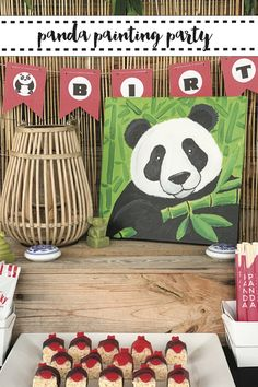 Host a fun Social Artworking Panda Party with these tips from Everyday Party Magazine. #Sponsored #PandaParty #KungFuPanda #PaintNight