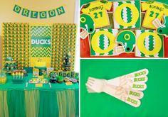 Oregon Ducks Football Sports Boy Birthday Party Planning Ideas