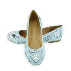 Sapatilha Bico Redondo ilustrada com tema Dream Cat - Coleção I Love Cats da Estilo Menina - Fashion & Divertida