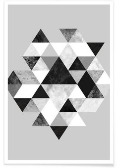 Graphic 202 BW as Premium Poster by Mareike Böhmer | JUNIQE