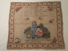 A 19th Century English Sampler Stitched By Mary Baldwin & Dated 1845
