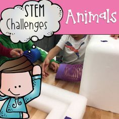 Combine thematic units and creative, artistic, outside-the-box thinking in these STEM and STEAM Makerspace activities! They are a great way to incorporate STEM into your core Reading, Math, Science or Social Studies instruction. They come in a variety of sets so that you can differentiate based on your student's needs.   What's Included  This GROWING BUNDLE of STEM resource is all about animals. There will be 50 activities in total by the end of July (and more likely sooner); 30 of which
