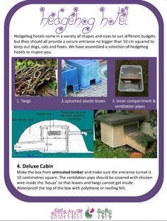 Hedgehog hotel ideas - how to make a hedgehog hotel - wildlife garden