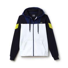 9321422a49e5 Sweatshirt zippé Tennis Lacoste SPORT bi-matière color block - Sweatshirt  homme Lacoste
