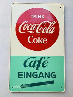 Werbetafel Coca Cola 50er/60er Jahre 90x56cm kein Blechschild / Emailschild | eBay Vintage Coca Cola, Coke, Ebay, Coca Cola Products, Brewery, Cardboard Paper, Sheet Metal, Vintage Coke, Coca Cola