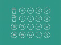 Minimalist icons- free PSD