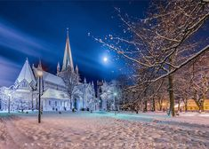 Aziz Nasuti Photography Norway Winter, Skyscraper, Moon, In This Moment, Abstract, Architecture, Photography, Travel, Trondheim Norway