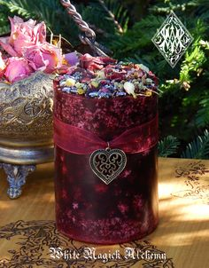 White Magick Alchemy - Witches Heart . Herbal Alchemy Candles, $13.95 (http://www.whitemagickalchemy.com/witches-heart-herbal-alchemy-candles/)