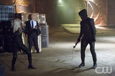"""Arrow -- """"Honor Thy Father"""" -- Image: AR102b_5654b -- Pictured (L-R): Kelly Hu as China White and Stephen Amell as Arrow -- Photo: Jack Rowand/The CW © 2012 The CW Network. All Rights Reserved."""