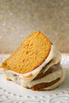 Pumpkin buttermilk Bundt Cake with Brown Butter Icing by Bakergirl on BuddingBaketressBlogspot.