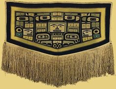 """""""Chilkat Blanket"""", Tlingit People, c. 1850, Private Collection"""