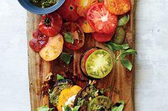 Eggplant, Tomato, and Pesto Stack / Johnny Miller