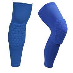 YD New 1 pc Logo Custom Honeycomb Padded Knee Brace Sports Safety Basketball Kneepad Compression Knee Sleeve Protector Knee Pads