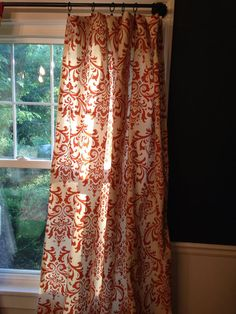 "Custom Set of 2 Drapes Curtains 84"" Pumpkin Scroll on Etsy, $125.00"
