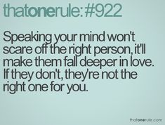 "1. If its ""The One Rule"" Why are there 922 of them?  2. According to this, if you're trying to get rid of the person, don't tell them. It will just make them fall deeper in love with you.   3. Why does this exist?"