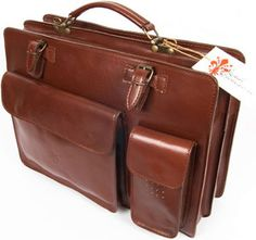 Stradefiorentine Made in Italy Leather Business Bag Briefcase Messenger US4