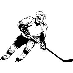 hockey player clipart 17