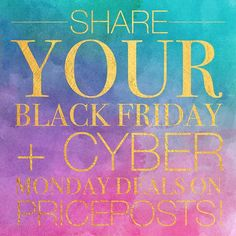 It's not too late to post your #blackfriday 🛍 and #cybermonday 💻 deals on #Priceposts ✨ Don't miss a FREE opportunity to connect with consumers! Link in bio! . . . . #entrepreneur #entrepreneurmindset  #entreprenuerlife #buildyourempire  #buildingmyempire #ceo #startupbusiness #growyourbusiness #businessmind #lawofattraction #startupquotes #girlboss #ladyboss #technoprenuership #marketingdigital #conversationalcommerce #ecommerce #marketingonline #socialmediacommerce #socialmediatools…
