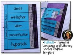Editable Figurative Language Interactive Reading Notebook Activity Aligned with the Common Core State Standards (Grades 5-12)