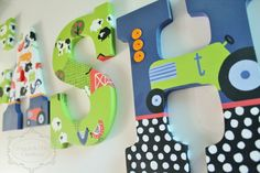 Farm Animal themed Personalized Wooden Letters for Nursery or Bedroom by KraftinMommy on Etsy