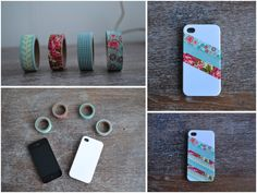 DIY: washi tape iphone case