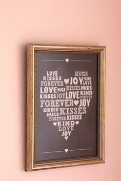 Free Printable: Valentine's Day chalkboard wall art