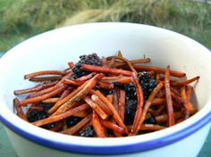 Carrot & Blackberry Slaw - Sides - with a protein this makes the perfect post workout meal