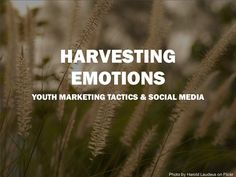Harvesting Emotion - Youth Marketing Tactics and Social Media