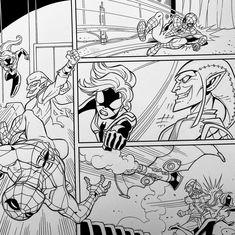 Spider-Man and Green Goblin! Pencils by Ron Lim, Inks by Walden Wong. Sub me at www.YouTube.com/WaldenWongArt #spiderman #greengoblin #avengers #spider #marvel #comics #marvelcomics #marvellegends #wasp #doodle #sketch #draw #ink #inks #inking #art #artist #dccomics #cosplay #artoftheday #artaccount #artwork #artinspiration #artoftheday #artistsoninstagram #drawdraw #penandink #superheroes #manga #draweveryday #drawingsketch Doodle Sketch, Drawing Sketches, Drawings, Comic Art, Comic Books, Green Goblin, Marvel Comics Art, Wasp, Marvel Legends