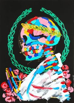 Look to - Bradley Theodore. Acrylic on cold press paper, 2017.