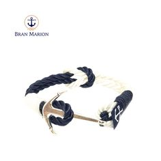 Bran Marion bracelets are the perfect casual accessory for the outdoorsy sporty types. Especially the water enthusiasts. Nautical Bracelet, Nautical Jewelry, Reef Knot, Marine Rope, Weather Conditions, Handmade Bracelets, Jewelry Collection, Blue And White, Retro