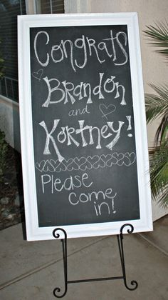 engagement party: Chalkboard decor
