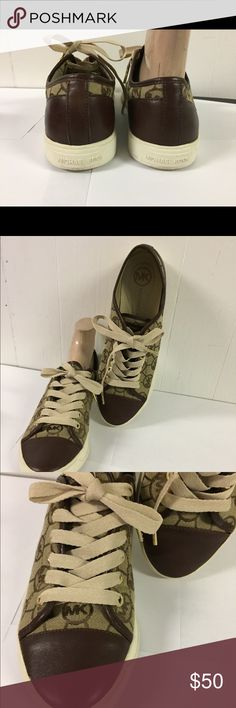 Michael Kors Logo Sneakers sz 8 1/2 M Very good clean condition.  Size 8.5 M Michael Kors Shoes Sneakers